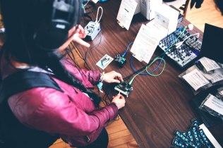 Tiffany jamming at Bleep Labs