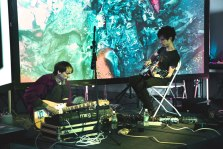 Yeah Yeah Yeahs' Nick Zinner and Deerhunter's Bradford Cox explore sounds with Moog pedals during a 4 hour improvisational performance