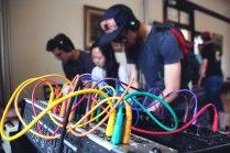 Tiffany, Justin and Andres jamming at Burnkit2600